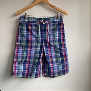 Polo by Ralph Lauren plaid board shorts boys 14-16